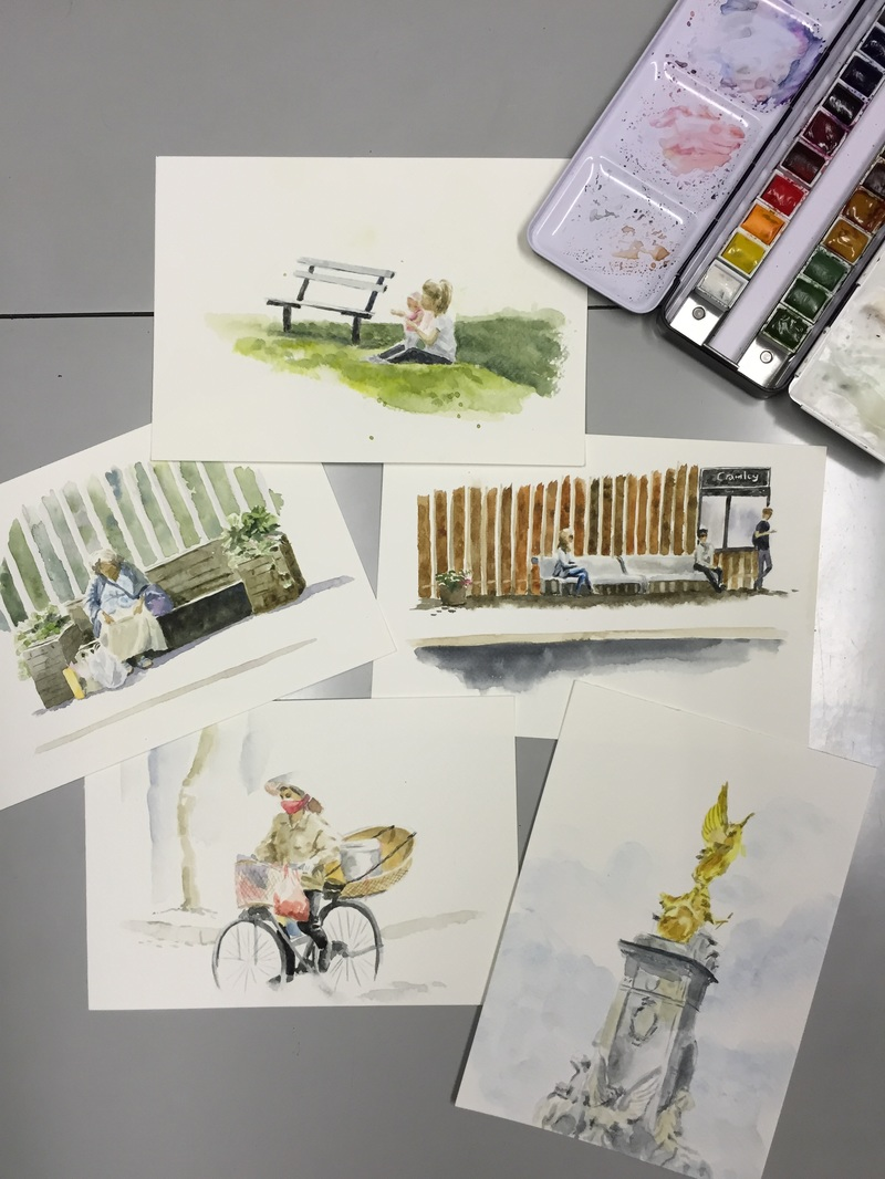 Snapshots in watercolour